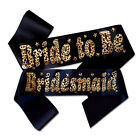 Leopard Print Hen Night Sashes - Choose from Bride to Be Sash, Bridesmaid & More