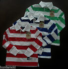 NWT Ralph Lauren Boys LS Striped Crested Rugby Shirt SZ 2/2t 3/3t 4/4t NEW $45