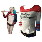 Cosplay Harley Quinn Costume T-Shirts Daddy  Lil Monster T-Shirts Size XS-XL