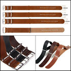 18/20/22/24mm Men Genuine Leather Watch Strap Band Military Army Infantry Design