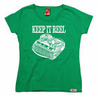 Keep It Reel WOMENS T-SHIRT Cassette Old Skool Tape Player Funny birthday gift