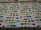 PRESTIGIOUS SARDINES FISH MULTI COLOUR WIPE CLEAN PVC VINYL OILCLOTH TABLECLOTH