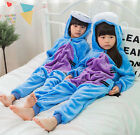 Child Winter Blue Donkey Pajamas Kid Cartoon Animal Sleepwear Loungewear Nonopnd