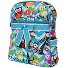 Personalized Aqua Chevron OWL Quilted Kids Backpack School Book Bag Monogram