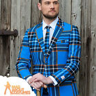 Adult Braveheart Oppo Suit Blue Tartan Mens Stag Fancy Dress Outfit New