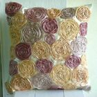 """Ivory Tissue Flowers 14""""x14"""" Satin Pillow Covers - Vintage Dreams TAPESTRY EDH"""