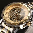10 Colors Steampunk Skeleton Mechanical Stainless Men's Wrist Watch - Mens Gift
