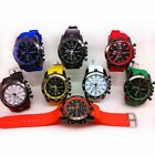 Casual Unisex Women Men's Watch Rubber Big Dial Quartz Outdoor Sport Wrist Watch