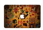 Laptop 3D Airbrush Paint Wood Logo Cut-out Hard Case Cover For Macbook Mac Book