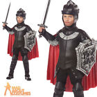 Child Deluxe Black Knight Costume Warrior Boys Fancy Dress Outfit New