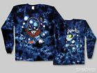 "Grateful Dead ""Space Your Face"" Double Sided Tie-Dye Long Slv Tee - FREE SHIPING"