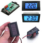 AC 240V 500V Digital Voltmeter Gauge Panel Meter LCD LED Volt Display 2 Wires