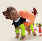Halloween Puppy Dog Pet Costumes Carry Pumpkin on back Cosplay Clothes Apparel