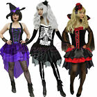 Halloween Fancy Dress Costume Women Witch Vampire Skeleton Adult Plus Size 6-18