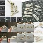 Fashion Crystal Rhinestone Flower Hair Pins Barrette Clip Hairpin Women Jewelry
