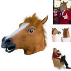 2016 Cosplay Halloween Horse Head Mask Latex Animal ZOO Party Costume Prop Toys