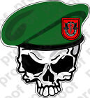 STICKER U S ARMY BERET UNIT 7TH SPECIAL FORCES SKULL