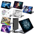 """Hard Rubberized Wolf Painting Case For Macbook Pro Air 11 13""""15"""" Retina 12 + KB"""