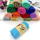 1pc Women Men Colorful Candy Colors Long Soft Cotton Scarf Wrap Shawl Scarves S3