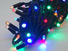 10m 100 LED Xmas String Fairy Light - IP65 Outdoor Indoor - Red Green Blue White