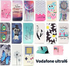 Flip Magnetic Card Slot Wallet PU Leather Case Stand Cover For Vodafone Ultral 6