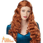 Adult Lady Guinevere Wig Medieval Queen Historical Fancy Dress Accessory New