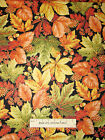 Harvest Breeze Autumn Fall Leaf Acorn Fabric Red Rooster Gold Accent Cotton Yard