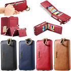 Multi-function Detachable PU Leather Wallet 18 Card Slots  Case Cover For iPhone
