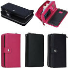 Top PU Leather Detachable Zipper Wallet Card Case Cover for Samsung Galaxy Note5