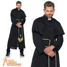 Adult Priest Costume Vicar Robe Religious Fancy Dress Outfit New by Leg Avenue