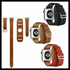 4 in 1 Leather Cuff Bracelet Long Watch Band Strap Color iWatch 42mm Apple