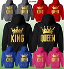 King Queen Couple Hoodie - King & Queen Custom Couples His & Hers Love Matching