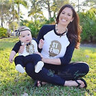 Summer Family Love Tops Clothing Mother Mum Daughter Son T-shirt Matching Outfit
