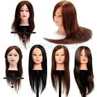 100% Real Human Hair Hairdressing Training Practice Head Doll Mannequin + Clamp