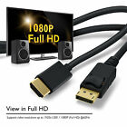 GearIt 1080P Gold Plated DP to HDMI Male HD TV LCD PC LAPTOP AC CABLE ADAPTER