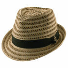 New Tommy Bahama Paper Braid Two Toned Fedora