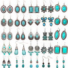 Best Women Fashion Jewelry Tibetan Silver Vintage Turquoise Dangle Earrings Gift