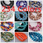 72Pcs  8mm Rondelle Faceted Crystal Glass Loose Beads Diy Findings 238 colors