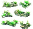 ROCK & PLANT ORNAMENT - Fish Aquarium Tank Decoration Aqua Pet Deco dm Reptile