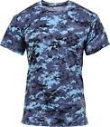 Sky Blue Digital Camouflage Performance Moisture Wicking Shirt