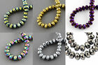 150 pcs RONDELLE FACETED GLASS CRYSTAL BEADS 4x3 mm  Jewellery Making 13 Colours