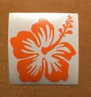 Hawaii Hawaiian Islands hibiscus flower #2 vinyl decal sticker ~ pastel orange