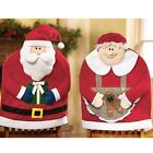 Christmas Xmas Kitchen Chair Cover Featuring Mr And Santa Claus Decor Décor Gift
