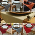 100% COTTON TABLE RUNNER - 6 COLOURS, 3 SIZES