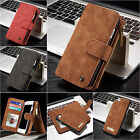 """Genuine Leather Detachable Magnetic Wallet Flip Zip Case Cover For iPhone 7 4.7"""""""