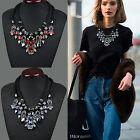Fashion Jewelry Charm Crystal Choker Chunky Statement Bib Pendant Necklace Chain