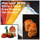 100 x Net Woven Sacks Logs Kindling Wood Log Vegetables Mesh Bags 80x50 cm 30 kg