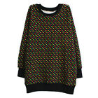 Winter Keep Warm Black Cotton+Pashm Long Sleeve Large Size Women's Shirt/Dress #