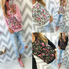 UK New Womens Floral Long Sleeve Sweatshirt Pullover Casual Blouse T-Shirt Tops