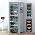 SHOES CABINET STORAGE ORGANISER SHOE RACK STAND HOLDS 27 PAIRS 10 TIER DUSTPROOF
